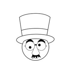 comic face icon vector image
