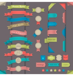 Design elements in retro style vector