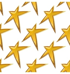 Golden stars seamless background pattern vector image