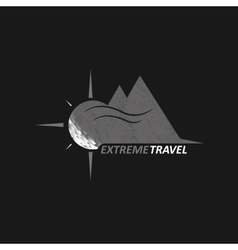 Logo Extreme Travel vector image vector image