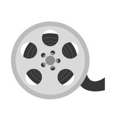 reel film isolated icon vector image