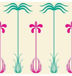 simple flower pattern vector image vector image