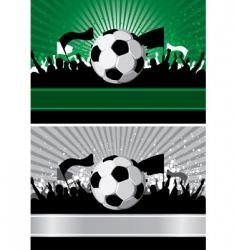 soccer ball on grunge background vector image
