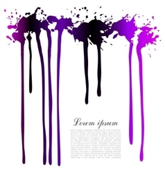 Spray paint Black pink and purple Template for vector image