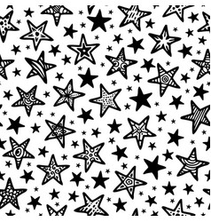 texture of doodle stars vector image vector image