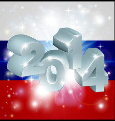 2014 russian flag vector image