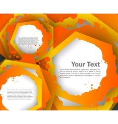 Abstract colorful background with hexagons vector