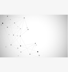 abstract connecting dots and lines connection vector image