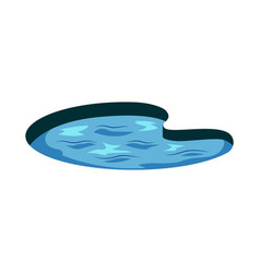 abstract lake icon with water ripples vector image