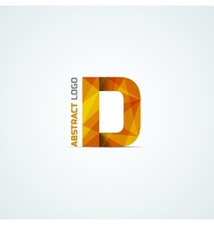 Abstract triangular letter D icon vector