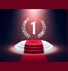 Award pedestal realistic presentation podium 3d vector