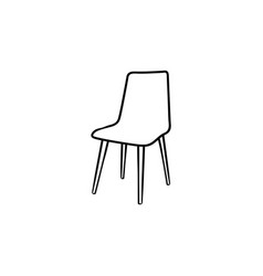 Barstool hand drawn sketch icon vector