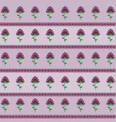 beautiful flowers background pattern vector image