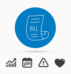 bill icon pay document sign vector image