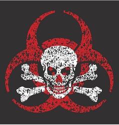Biohazard skull symbol vector image vector image