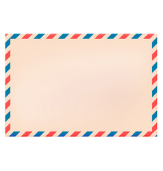 Blank new envelope with red and blue striped vector