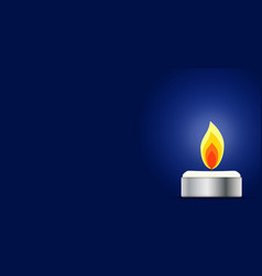 Burning candle memorial candle vector