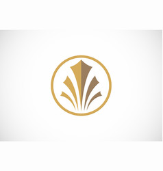 business building icon logo vector image