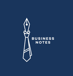 business notes logo vector image