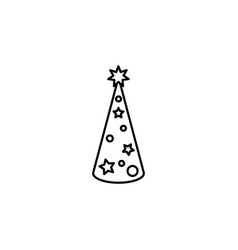 christmas tree line icon black on white vector image