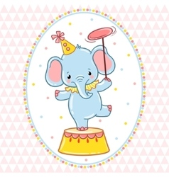 Circus card design vector