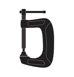 Clamp black outline icon vector