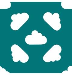 Cloud download application web iconflat design vector