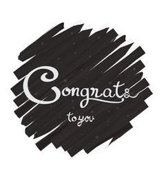 Congratulations lettering design vector