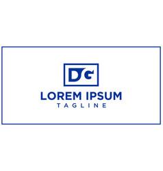 dg negative space logo vector image