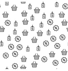 discount season offer price shop seamless pattern vector image