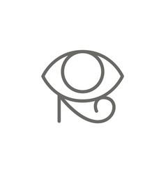 eye ra symbol icon spiritual concept vector image