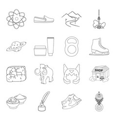 fitness astrology business and other web icon in vector image