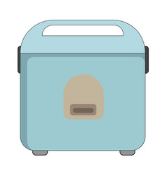 Flat color rice cooker icon vector
