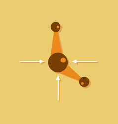 Flat icon design collection atom and arrows in vector