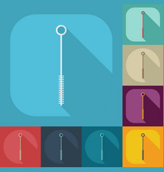 Flat modern design with shadow icons brush vector