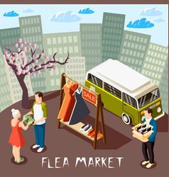 Flea market composition vector