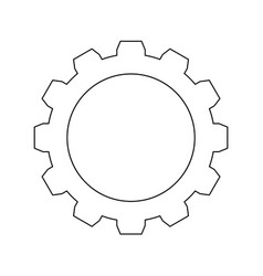 Gear the black color icon vector