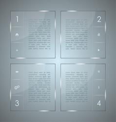 glass infographic transparent plates vector image