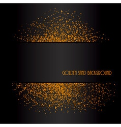 Golden sand abstract background vector image
