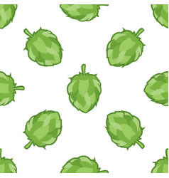 Green hop seamless pattern vector