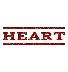 Heart Watermark Stamp vector image