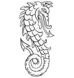 Heraldic dragon No4 vector