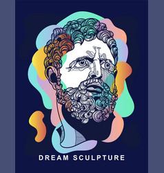 Hercules portrait sculpture dream style with vector