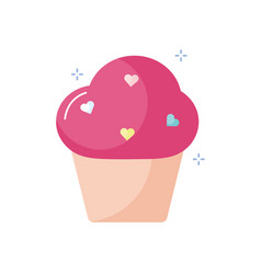 Isolated cupcake dessert flat style icon vector