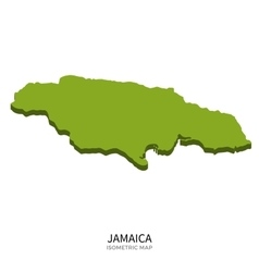 Isometric map of Jamaica detailed vector