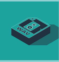 Isometric wav file document download wav button vector