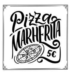 Italian food menu - names dishe lettering vector