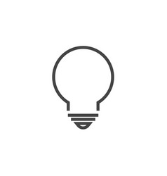 lightbulb lamp graphic design template vector image
