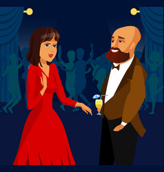 man and woman at party event vector image
