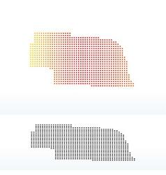 Map of USA Nebraska State with Dot Pattern vector image